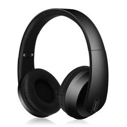Auriculares Bluetooth con acabado satinado. Negro