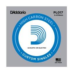 Cuerda Guitarra Acústica/Eléctrica D'Addario PL017