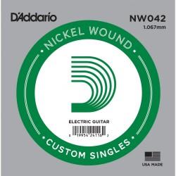 Cuerda Guitarra Eléctrica D'ADDARIO NW042