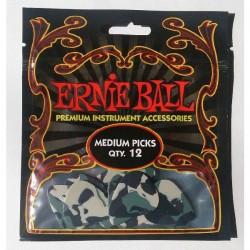 Púas Ernie Ball Camouflage Pack 12