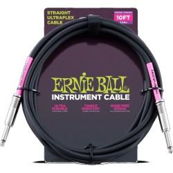Cable Ernie Ball Ultraflex Jack-Jack Negro 3.04M