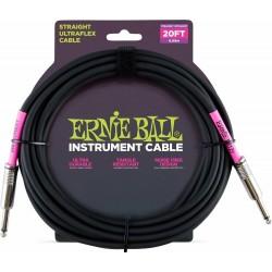 Cable Ernie Ball Ultraflex Jack-Jack Negro 6.09M