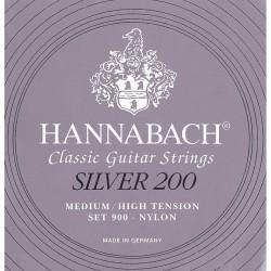 Juego Hannabach Silver 200 Clásica 900-MHT