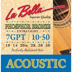 La Bella 7GPT Phosphor Bronze Extra Light 10-50
