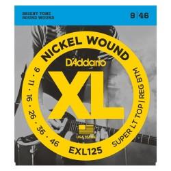 Juego Cuerdas D'Addario EXL125 [09-46]