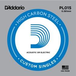 Cuerda Acústica/Eléctrica D'Addario PL015