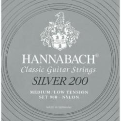 Juego Hannabach Silver 200 Clásica 900-MLT