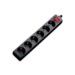 Regleta 6 Enchufes con Interruptor MARK