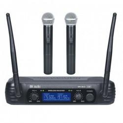 Dos Micrófonos Inalámbricos de Mano EK VHF
