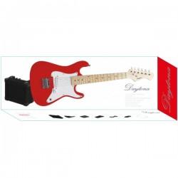 Pack Guitarra Eléctrica Junior DAYTONA Tipo Stratocaster Rojo