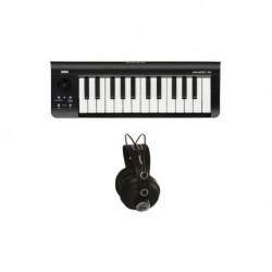 Korg microkey2-25 air kit teclado + auriculares oqan qhp30s