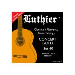Juego Cuerdas Luthier 40 Guitarra Clásica. Tensión Media/Fuerte