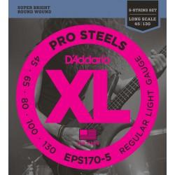 EPS170-5 ProSteels 5-String Bass, Light, Long Scale [45-130]
