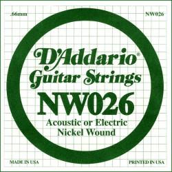Cuerda Guitarra Eléctrica D'ADDARIO NW026