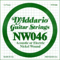 Cuerda Guitarra Eléctrica D'ADDARIO NW046