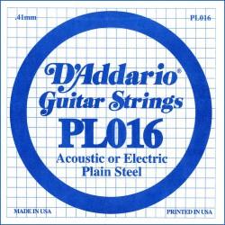 Cuerda Guitarra Eléctrica D'ADDARIO PL016