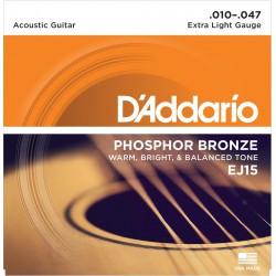 D'Addario EJ15 - Phosphor Bronze Extra Light [10-47]