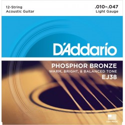 EJ38 - Phosphor Bronze Ligh 12 String [10-47]