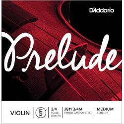 CUERDA D'ADDARIO VIOLIN PRELUDE E J811 3/4 MED