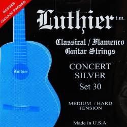 Luthier 30 Concert Silver. Tension Media-Fuerte