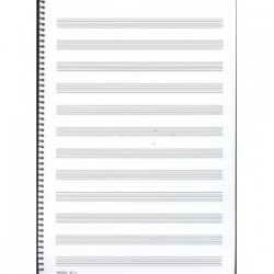 Bloc de Música Folio Alto 12 Pautas