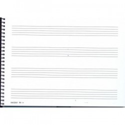 Bloc de Música Pre-Escolar 1/2 Folio Apaisado