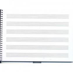 Bloc de Música Guitarra 1/2 Folio Apaisado