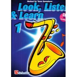 Escuchar, Leer & Tocar. Saxofón Tenor 1 + CD (Versión Inglés)